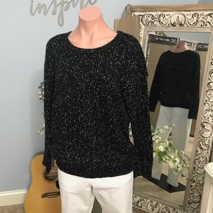 Medium AE Black and Gold Vintage Boyfriend Sweater